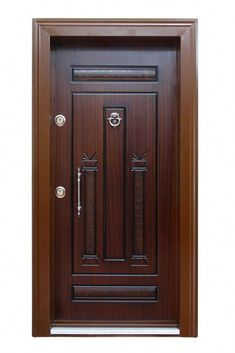 Here is modern entry door a touch of old world design mystique. Main Entrance Door Design, Wooden Front Door Design, Double Door Design, Wooden Front Doors, House Main Door Design, Door Design Interior, Pooja Room Door Design, Single Main Door Designs, Modern Wooden Doors