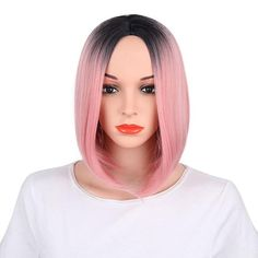 Symbol Of The Brand Alileader Two Tones Ombre Wig 14 Short Silky Straight Synthetic Hair Wig For Women Synthetic Wigs Hair Extensions & Wigs Kanekalon Bob Style Afircan American Hair