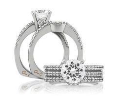 From A. Jaffe - Ladies Engagement Ring in 18k white gold | Rogers Jewelry Co.