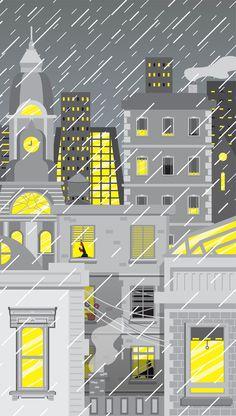 City Gray... Yellow Lights
