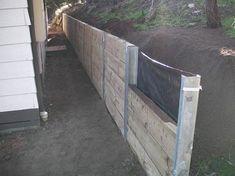 25+ best ideas about Wood retaining wall on Pinterest ... #retainingwallideas
