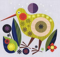 bird design Tattoo Simple is part of Adorable Bird Tattoo Designs For The Bird Lover - layered paper bird Kiwi Bird, Motif Vintage, Nz Art, Maori Art, Bird Illustration, Illustrations, Paper Birds, Mural Wall Art, Bird Drawings