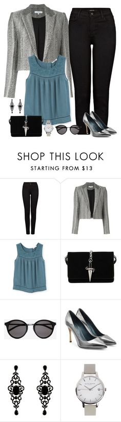 """""""Jeans and blazer (outfit only)"""" by blueeyed-dreamer ❤ liked on Polyvore featuring J Brand, IRO, MANGO, Cesare Paciotti, Yves Saint Laurent, Sergio Rossi and Olivia Burton"""