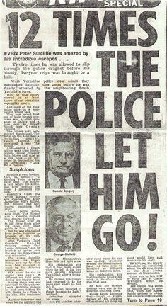 Police proved Sutcliffe was not the Ripper Peter Sutcliffe, West Yorkshire, Serial Killers, World History, Writing A Book, Police, Interview, Bring It On, The Incredibles