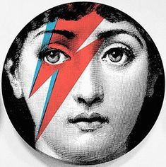 "Fornasetti Theme & Variation 8"" Plate - Ziggy"