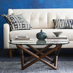 Nice coffee table, though the same size as the one I have now.  Spindle Coffee Table #westelm