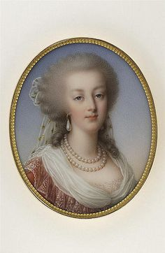 A portrait of Marie Antoinette by Marie Victoire Jaquotot, circa 1818