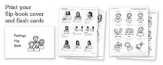 Free Printable ASL - Signing Time Feelings Flip Book or Flash Cards or Matching Game