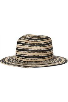 rag & bone - Striped Straw Panama Hat - Beige - M/L
