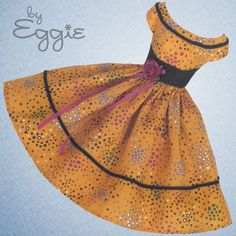 Golden Autumn - Vintage Barbie Doll Dress Reproduction Repro Barbie Clothes