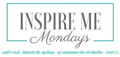 Welcome to Inspire Me Monday link party where you come to inspire others and glean amazing creative inspiration from the best of the blogosphere. If you stopped by last week, we celebrated our 100th Inspire Me Monday party with a giveaway to Homegoods! Congratulations to Susan M. for winning the $200 Homegoods gift card! We …