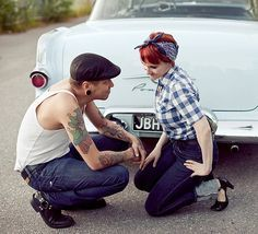 rockabilly family photo shoot | pinup photo shoot ideas