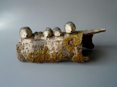 Hedgehog Family: Mother, Father and Babies. by CrowWhitePottery
