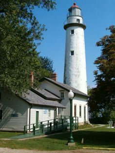 Pointe Aux Barques Lighthouse near Port Hope, Michigan