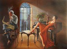 Capriccio, oil on canvas 90 x 70 cm, by Adina Lupan
