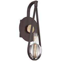 """Quoizel Uptown Seaport 15"""" High Bronze Wall Sconce 159.99"""
