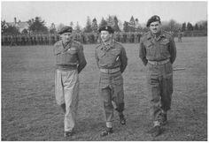 Veldmaarschalk Montgomery, generaal Hackett en generaal Urquhart.