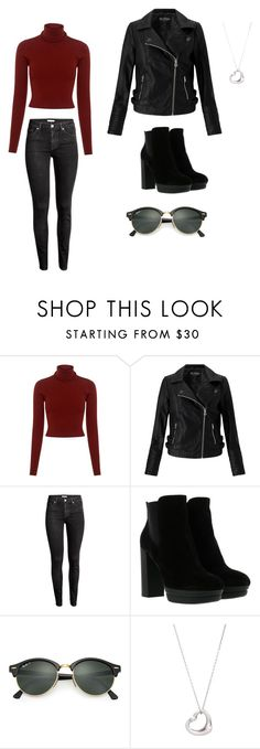 """""""Untitled #8"""" by olya-khritoshina ❤ liked on Polyvore featuring A.L.C., Miss Selfridge, H&M, Hogan, Ray-Ban and Tiffany & Co."""
