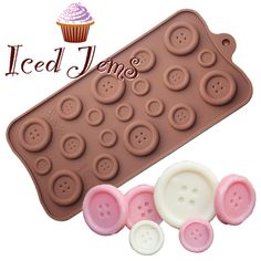 A cute Buttons Silicone Mould for making Mini Chocolate or Fondant Buttons that can be used for Cake and Cupcake Decoration, Mini Gifts and so much more! Follow the tutorial on the Iced Jems Blog for instructions no how to make the awesome Chocolate Buttons Cake shown in the picture! COLOURS MAY VARY - Freezer [...]