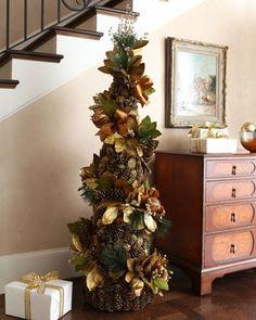 Pine Cone & Magnolia Christmas Tree