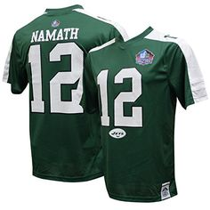 Joe Namath Green Hall of Fame Hashmark Synthetic Top by Majestic XLarge ** Details can be found by clicking on the image.