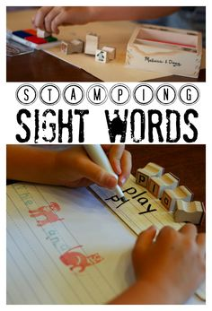 Stamping Sight Words using a variety of ways!