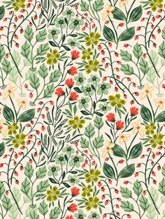 New flowers illustration pattern design wallpapers Ideas Textile Patterns, Flower Patterns, Print Patterns, Flower Pattern Design, Summer Patterns, Boho Pattern, Pattern Art, Deco Floral, Motif Floral
