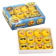 Emoji Universe: 2-Ply Professional Practice Golf Balls, 12 Emoji Balls - http://golfforchampions.com/emoji-universe-2-ply-professional-practice-golf-balls-12-emoji-balls/
