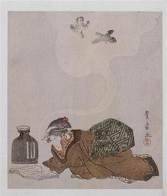 Réunion des musées nationaux En rêvant de deux oiseaux Utagawa