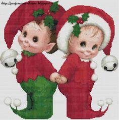 Professione Donna: Speciale Natale: Quadretto con folletti_1 a punto ...