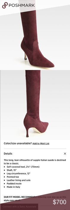 Manolo Blahnik Pascalare Suede Kneehigh Boots Gorgeous suede boots worn only once!!! In perfect condition! Still in original box. Manolo Blahnik Shoes Heeled Boots
