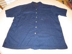 Polo by Ralph Lauren Mens XL Caldwell cotton short sleeve button up Shirt EUC @ #PolobyRalphLauren #ButtonFront