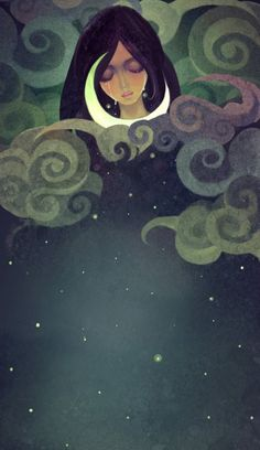 Love this illustration! All you need is a striking font for the title. (Beautiful Stars by Elda The) Art And Illustration, Art Magique, Moon Magic, Moon Art, Moon Child, Stars And Moon, Fantasy Art, Whimsical, Art Photography