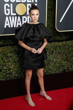Millie Bobby Brown attends The 75th Annual Golden Globe Awards at The Beverly Hilton Hotel on January 7, 2018 in Beverly Hills, California.