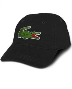new concept 12d6a 1d92e Lacoste Men s Large Croc Gabardine Cap - Black Lacoste Men, Hats For Men,  Mens