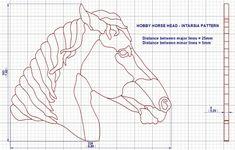 Hobby horse intarsia pattern