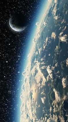 "Earth and Moon from space ~ Mik's Pics ""Cosmos"" board Earth And Space, Planet Earth From Space, Cosmos, Space And Astronomy, Astronomy Science, Space Planets, To Infinity And Beyond, Galaxy Wallpaper, Wallpaper Earth"