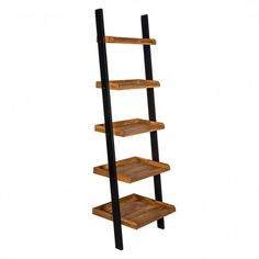 Furniture In Fashion Contra Wooden Ladder Shelving Unit In Oak And Black Finish Solid Wood Shelves, Oak Bookcase, Bookcase, Wooden Ladder Shelf, Interior Decor Themes, Shelving Unit, Ladder Bookcase, Wooden, Ladder Shelving Unit