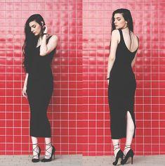 Holynights Claudia - Genuine People Dress - Simply black