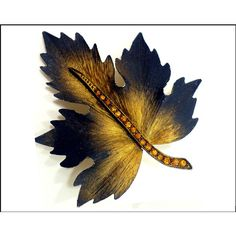 Gold Rhinestone Leaf Brooch, Gold Oak Leaf, Large Leaf with Black... ($16) ❤ liked on Polyvore featuring jewelry, brooches, rhinestone jewelry, gold leaf brooch, enamel brooches, gold enamel jewelry and gold brooch