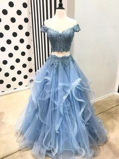 Long Prom Dresses #LongPromDresses, Prom Dresses Lace #PromDressesLace, Prom Dresses Two Piece #PromDressesTwoPiece, Prom Dresses 2018 #PromDresses2018