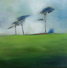 """Delgany Hilltop"" - Oil and Wax on Linen  By Padraig McCaul  www.padraigmccaul.com"