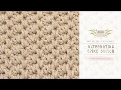 Crochet Moss Stitch - YouTube