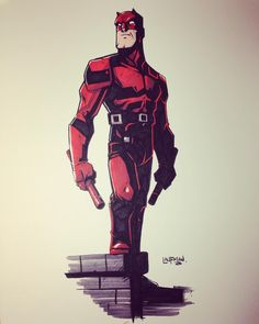 An Daredevil pen and marker sketch from #inktober I believe.  You are probably…