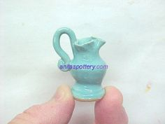 Too pretty // Aqua Turquoise Miniature Pottery Rebekah Rebecca by potterybyAnita, $16.00
