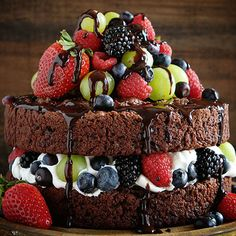 The only thing better than chocolate-covered fruit is chocolate-covered fruit in cake form.    - TownandCountryMag.com