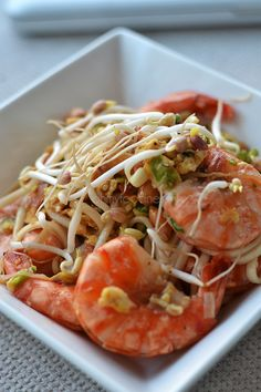 Thaise noedels met gamba's - OhMyFoodness