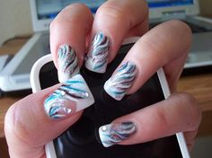 Short Acrylic Nail Designs Ideas | Nail Art... beautify your nails • Art Platter