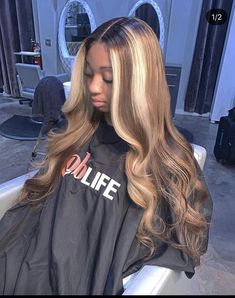 Shop our Brazilian wavy hair which lifts to a high blonde. For this look we suggest body wave bundles! Don't forget your HD Lace! Ombré Hair, New Hair, Your Hair, Lace Hair, Blonde Hair, Curly Hair Styles, Natural Hair Styles, Updo Curly, Baddie Hairstyles