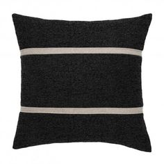 Texture, color and graphic stitching make little fluffy art pieces for your sofa or bed. Non-allergenic polyfill stuffing. Four designs: chalk with blue cross or graphite with wheat stripes and aqua or brick red with french seams. Be the first on your block to collect all four.